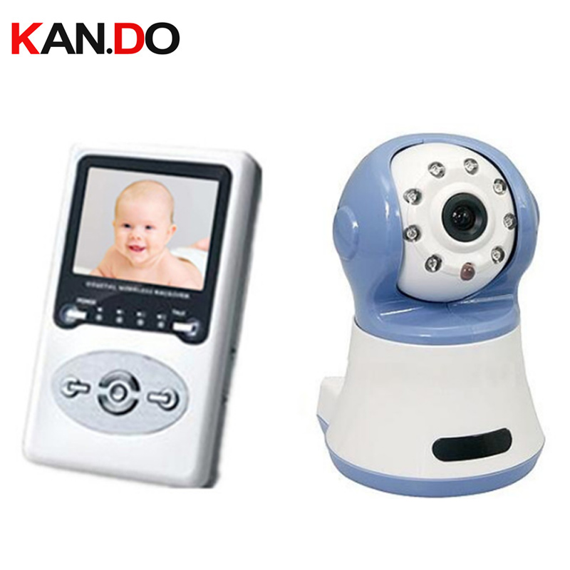 2.4G wireless digital signal Baby monitor Night vision 2.5LCD 100M distance 2-way speak wireless digital camera interphone