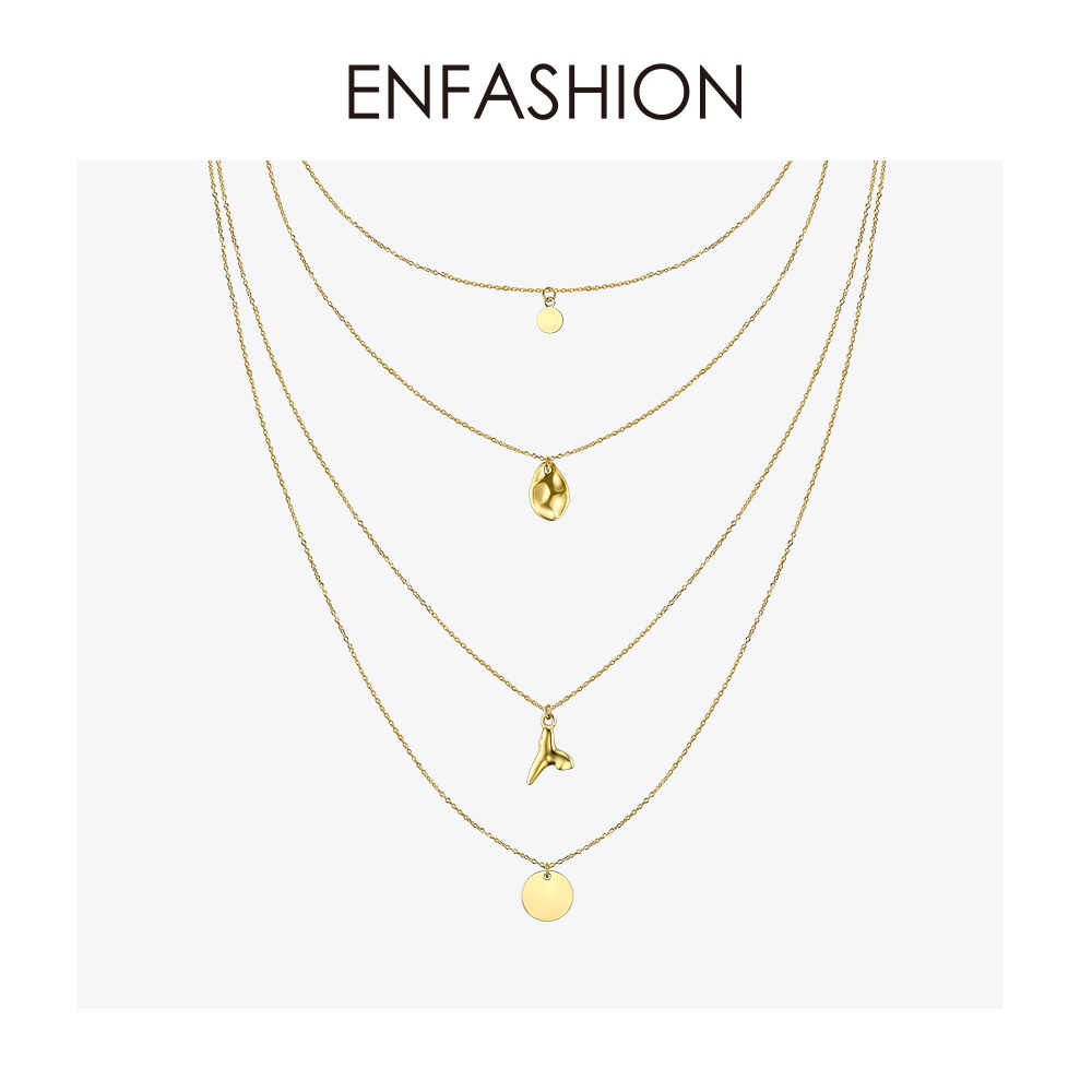 Enfashion Multi Layer Sequins Choker Necklace For Women Holiday Statement Long Tassel Pendants Chain Necklaces Jewelry PM193007