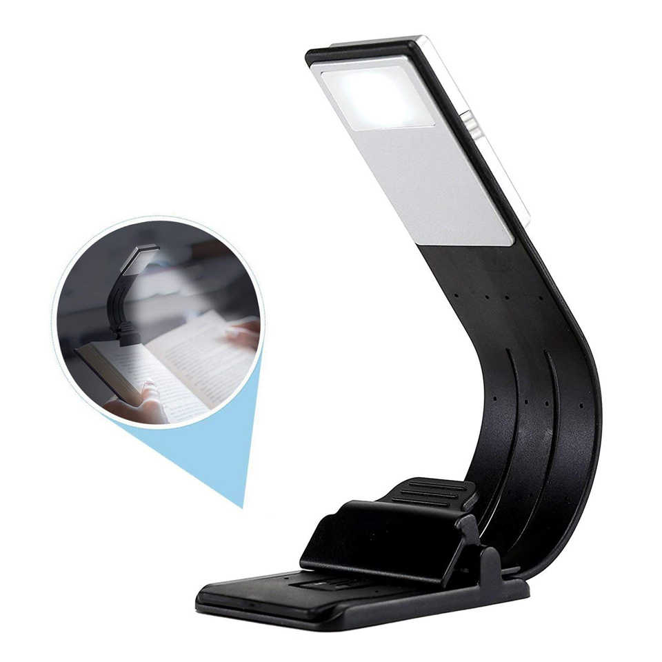 Book Lights Xsky Usb Light Portable Led Reading Book Lights With Detachable Flexible Clip Rechargeable Dimming Lamp For Kindle Ebook Readers
