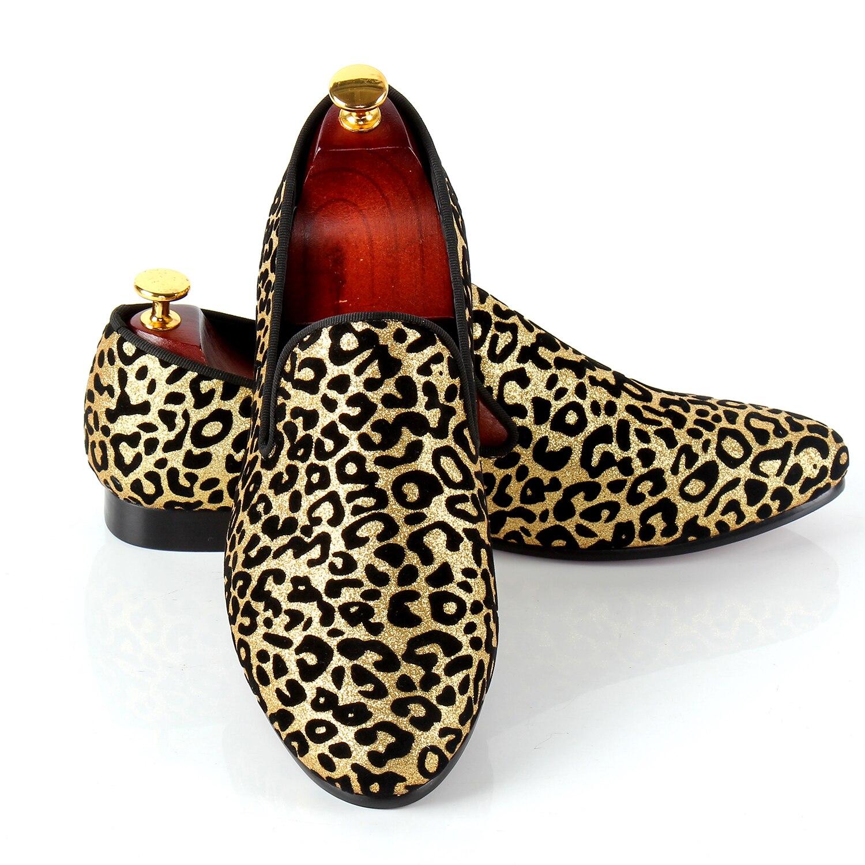 Imprimé léopard Hommes Robe Chaussures Glissement Sur des Chaussures De Mariage Pour Événements Rouge Semelle Inférieure Mocassins Livraison Drop Shipping Grande Taille chaussures