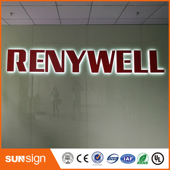 Factory Outlet Stainless steel led backlit lighted letters custom sign advertising products