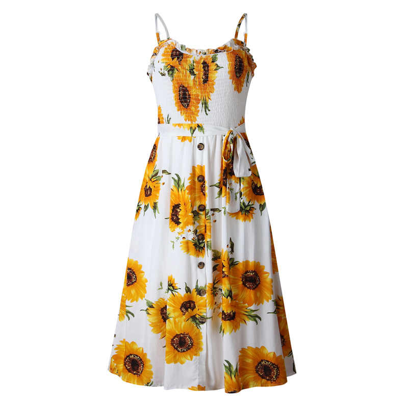 3d364daec ... Lossky Summer Women Dress Boho Floral Printed Dress Sexy Backless  Spaghetti Strap Sundress Lace-up