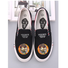 New Anime Cartoon Pattern Attack on Titan Eren Mikasas Armin Rivaille Canvas Shoes Women's Breathable Casual A193131 цена в Москве и Питере