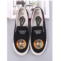 New Anime Cartoon Pattern Attack on Titan Eren Mikasas Armin Rivaille Canvas Shoes Women's Breathable Casual A193131