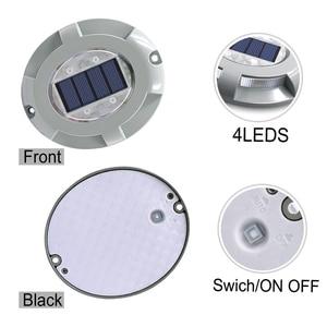 Image 2 - Solar LED Dock Path Deck Road Stud Maker Light Waterproof Security Lights Lamp Outdoor Driveway Pathway Yard  Garden Step Lamp