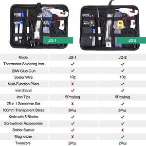Image 3 - 送料無料 10 1 接着剤銃はんだアイアンセットdiy修復ツールでプロ 240v 20 ワットスティックピンセットのヒントなど。