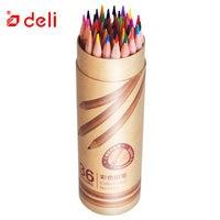 Deli 36 Colors Pencil Set Unique Colors Sketch Art Supplies Students Art Drawing Oily Colored Pencils Set Lapis De Cor Artistic