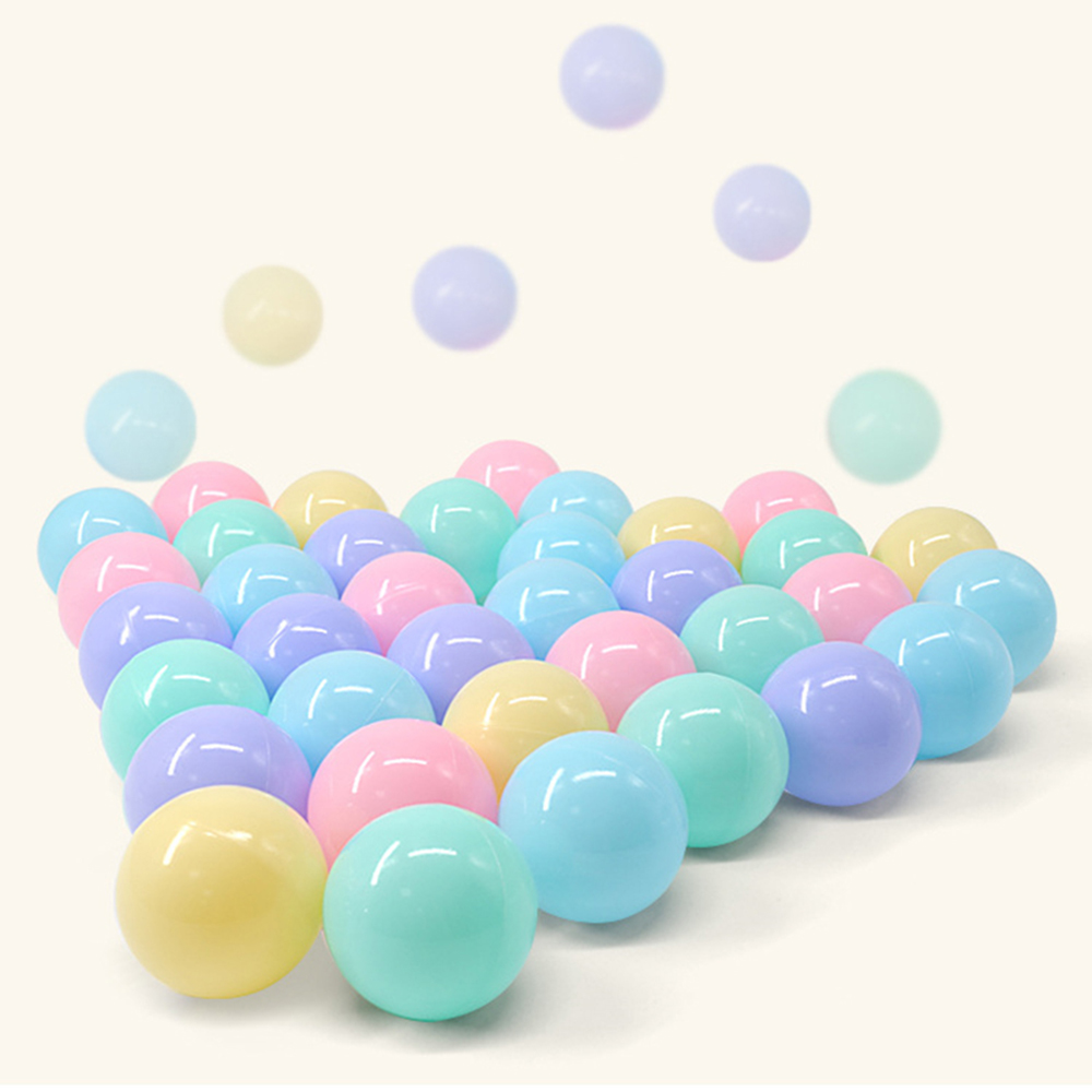 100 pcs/lot 5.5/7cm Eco-Friendly Colorful Ocean Ball Soft Plastic Funny Baby Kid Swim Pit Toy Water Pool Ocean Wave Ball Gift