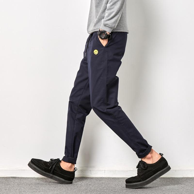 2018 de Alta Qualidade Da Moda de Algodão dos homens Calça Casual Calças Soltas Ativos Elásticas Harem Pants Hip Hop Sweatpants Corredores plus size 5XL