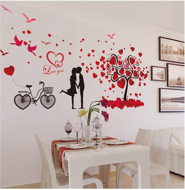 Marriage Room Wall Stickers Room Wall Decor Valentine Love