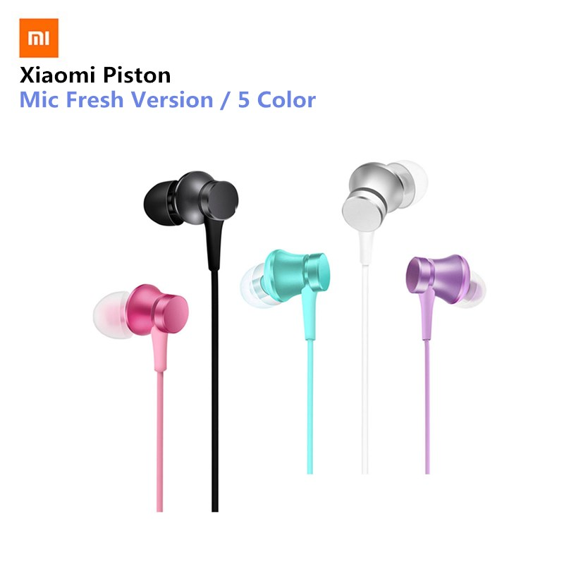 Original Mi Xiaomi Piston 3 Earphone Fresh Youth Version In-Ear 3.5mm Colorful Earphone With Mic Earphones 5 Color for xiaomi 6 50pcs wholsale genuine honor am12 engine earphone with mic 3 keys drive by wire 3 5 mm earphone for iphone 6 xiaomi mobile phone
