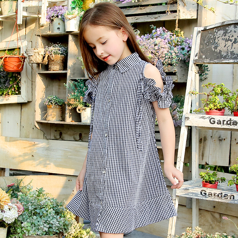 цены Teen Girls summer dress plaid children princess dress Fashion dresses for girls 5 6 7 8 10 11 12 13 15 years old