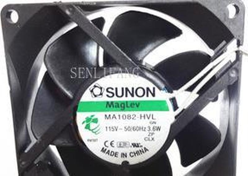 80*80*25mm 8cm AC115V MA1082-HVL 3.6W GN 2-wire Maglev Cooling Fan