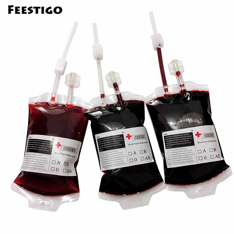 1 шт. прозрачная сумка из ПВХ для напитков пищевого класса, сумка для вампира, сумка для косплея, вечерние товары для украшения Хэллоуина
