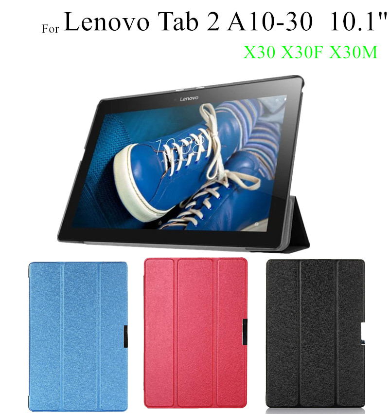 Tab3 10 Plus Silk Print Magnet Leather Case For Lenovo TAB2 A10-30 X30L X30F X30M tablet Cover cases +protector tab3 10 business tb3 x70f m pu leather case for lenovo tab2 a10 70f a10 30 x30l x30f tablet case fundas for lenovo tab 2 a10 30