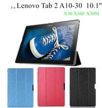 TAB3 10 плюс шелк принт магнит кожаный чехол для Lenovo Tab2 A10-30 x30l X30F x30m Tablet Чехлы + протектор