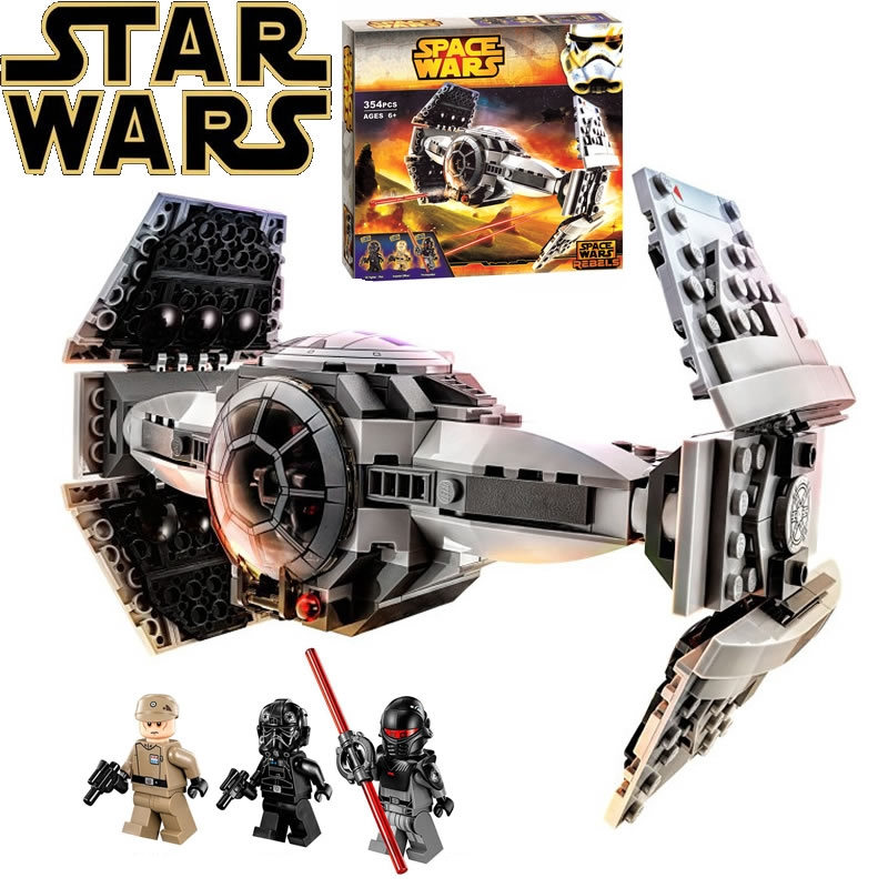 TRACKER Star Wars BELA 10373 Model Building Bricks Compatible Lepin City The Force Awakens TIE Advanced Prototype Fighter Toys 1713 city swat series military fighter policeman building bricks compatible lepin city toys for children lepin kazi bela sluban