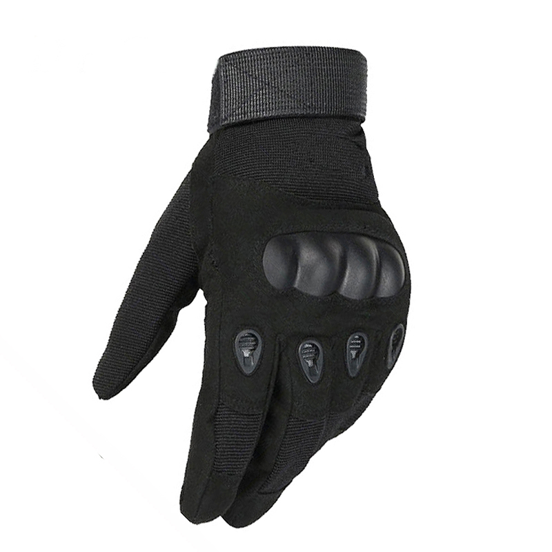 Full Finger Gloves 1 Pair Tactical Gloves Paintball Army Military Airsoft Shooting Combat Anti Skid Bicycle Hard Knuckle in Safety Gloves from Security Protection
