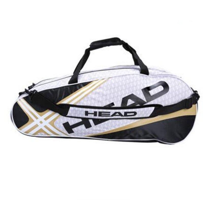 Sac de raquette de tête Badminton Tennis Double épaule avec sac à chaussures peut contenir 6-9 raquettes sport formation sac à dos hommes femmes Squash - 5