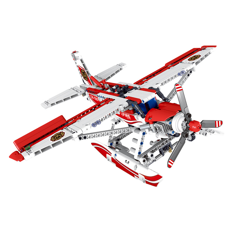 578pcs Creator Technology Plane Bricks Fire Aircraft Fighter Model Building Blocks Board Compatible LegoINGlys Toys for Children angela royston fire fighter