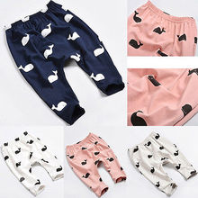Fashion Baby Kids Children Cartoon Whale 100% Cotton Pant
