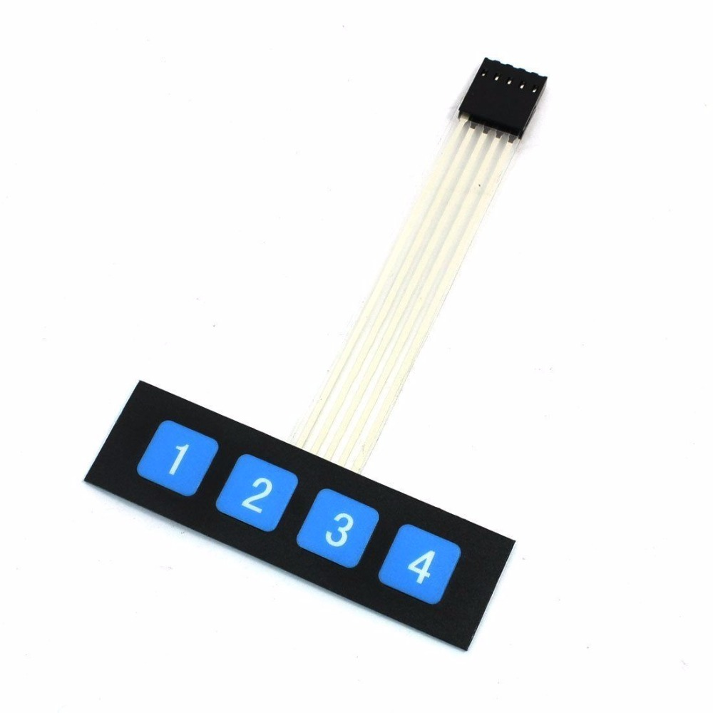 1pcs 1x4 4 Key Matrix Membrane Switch Keypad Keyboard Control Panel SCM Extended Keyboard Super Slim for Arduino maitech mini one key matrix keyboard mcu extended keyboard black