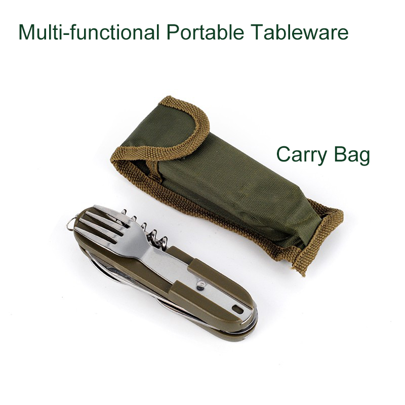 Outdoor Folding Portable Stainless Steel Cutlery Knife