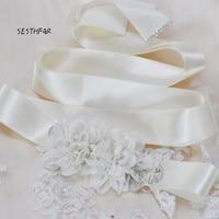 Fiore Matrimonio Handmade Sposa Damigella D'onore Sash Cintura delle donne S248 Per la Cerimonia Nuziale Del Partito di Sera Vestito Nuziale