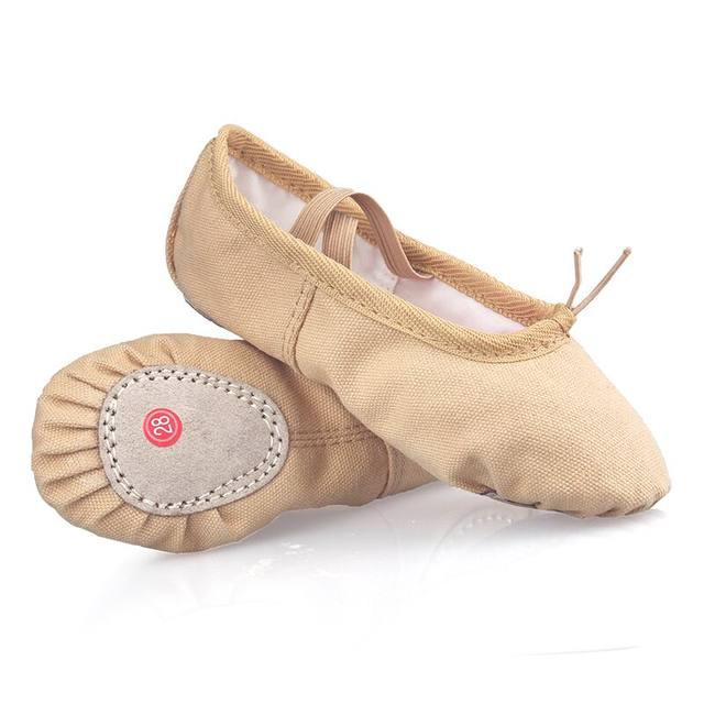 68563273bf Profissional Criança Meninas Miúdos de Algodão Canvas Macias Ballet Sapatos  Prática de Dança