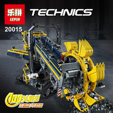 2016 New LEPIN 20015 3929Pcs Technic Bucket Wheel Excavator Model Building Kit Minifigure Blocks Brick Compatible Toy Gift 42055