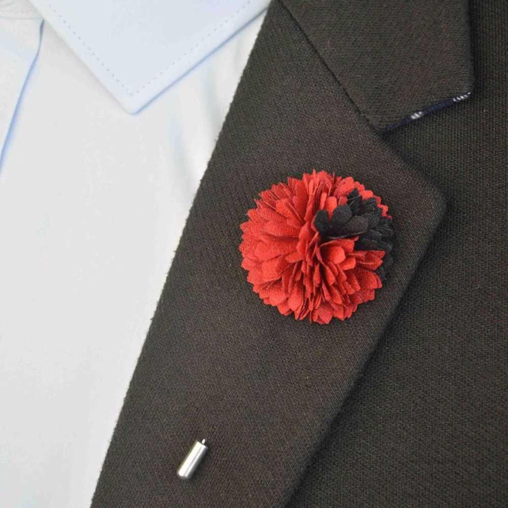 Pria Bunga Kerah Pin Pria Kerah Bunga Tongkat Pin Bros Vintage Pesta Pernikahan Suit Dress Dekorasi Buket Korsase 16 Warna