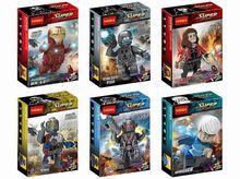 Decool 0217-0222 Iron Man MK45/Age of Ultron 6Pcs/lot Minifigures Building Block Minifigure Toys Compatible with Legoe
