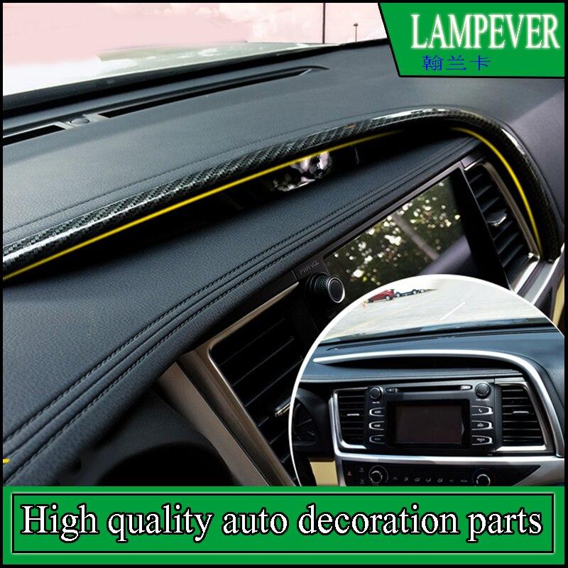 Car-styling For Toyota highlander 2015 Car instrument panel dash board Cover Trim navigation outside cover moulding Decoration