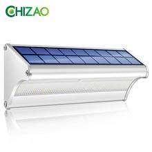 CHIZAO Lampa LED Solar Power PIR Motion Sensor Metal Solar Wall Light Odkryty Wodoodporny Ogród Super Bright Energy Saving Energy Emergency Yard Fence Ścieżka Garage do dekoracji ogrodu