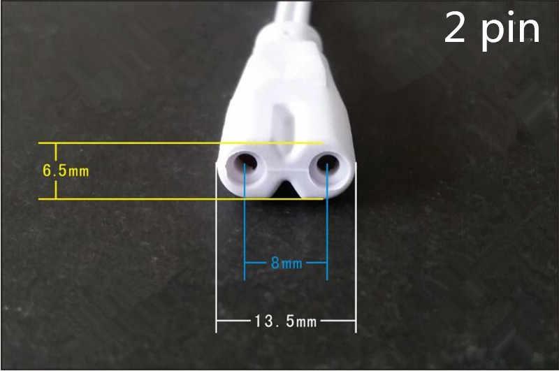 20 шт./лот 30 см круглый кабель T4 T5 T8 лампах двойной конец 3 pin 2 контактный адаптер питания LED интегрированной трубки Кабельный разъем