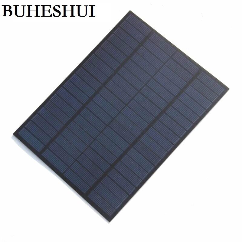 BUHESHUI 5W 18V Solar Cell Solar Module Polycrystalline PET DIY Solar Panel System For 12V Battery Green Power 220*165*3MM