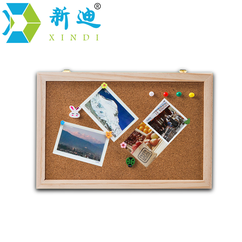 New 2018 Natural Wood Frame 20*30cm Bulletin Cork Board Office Supplier  Cork Pin Message