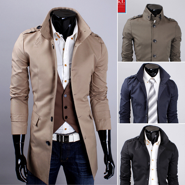 a45d22eefdf Supreme New Autumn Winter Long Slim Men's Casual Jacket Business 9041 95  Coat Male Formal Manteau Homme Mens Overcoat Trenchcoat-in Trench from Men's  ...