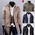 Supremo Nova Outono Inverno Longo Fino dos homens Jaqueta Casual Casaco Manteau Homme Masculino Formal Dos Homens de Negócios 9041-95 casaco Trenchcoat