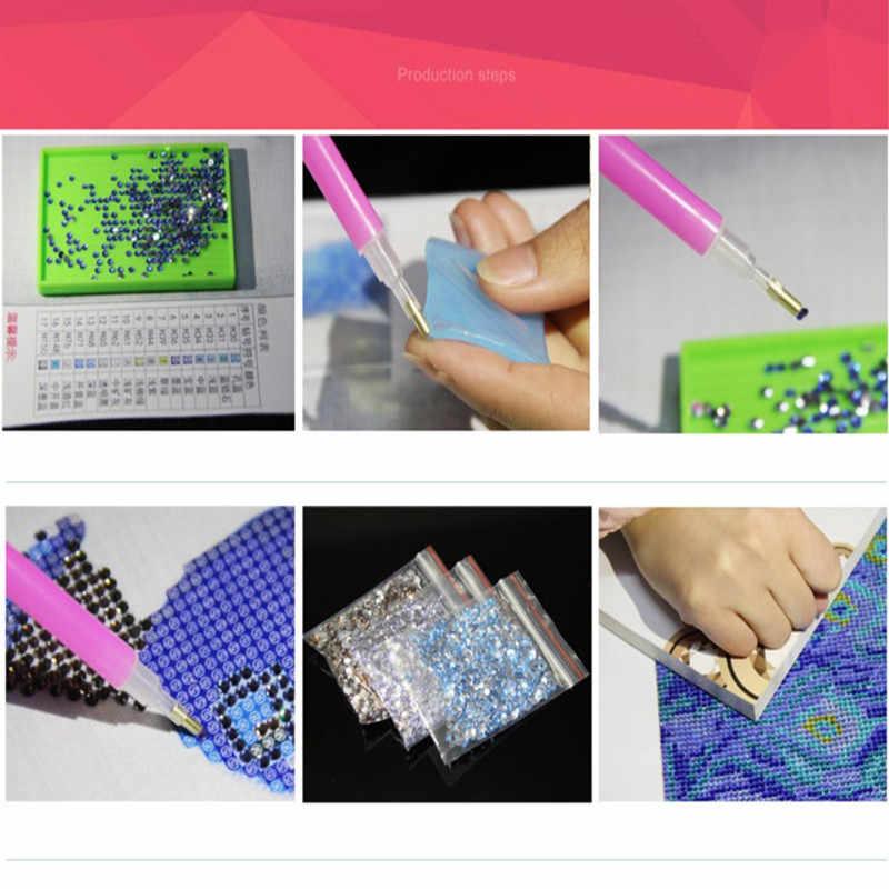 Phong cảnh Sơn Kim Cương Vẽ Hỗ Trợ Ustomization Thủy Tinh của Sao Biển Tường Sơn Trang Trí Cross Stitch Khảm