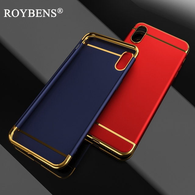 online store 23b7f aaccd US $4.04 10% OFF|Roybens For iPhone X Case For iPhone 10 Luxury 3 in 1 Hard  Plastic Full Protection Ultra Thin Matte Cover For iPhone X Edition-in ...