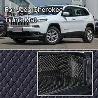PU Leder Hinten Trunk Cargo Liner Protector Mat Sitz Zurück Abdeckung Für Jeep Cherokee -
