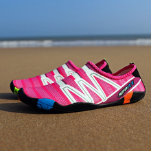 2018 Men Woman Quick-Drying Aqua Shoes Summer Outdoor Wading Shoes Swimming Slipper On Surf Beach Skin Sock Striped Water Shoes