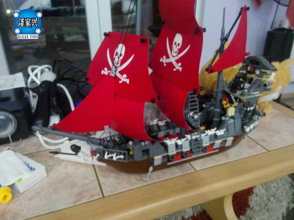 Модель Строительство комплекты Совместимость с lepins город Пираты корабль King 3D блоки Развивающие модели здания игрушки хобби для детей