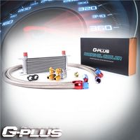 GPLUS 13 Row Thermostat Adaptor Engine Racing Oil Cooler Kit For Car/ Truck