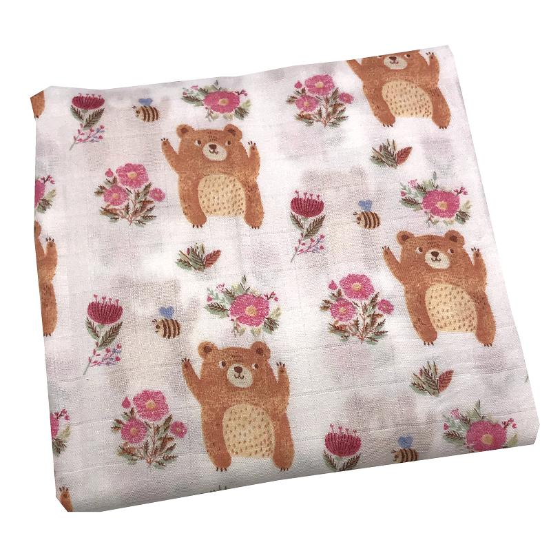 2019 New Bear Blanket 70% Bamboo Fiber+30% Cotton Muslin Baby Blankets For Newborn Swaddle Wrap Bedding Swaddling Bath Towel