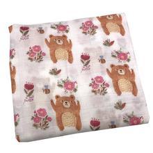 где купить 2019 New Bear Blanket 70% Bamboo Fiber+30% Cotton Muslin Baby Blankets For Newborn Swaddle Wrap Bedding Swaddling Bath Towel по лучшей цене