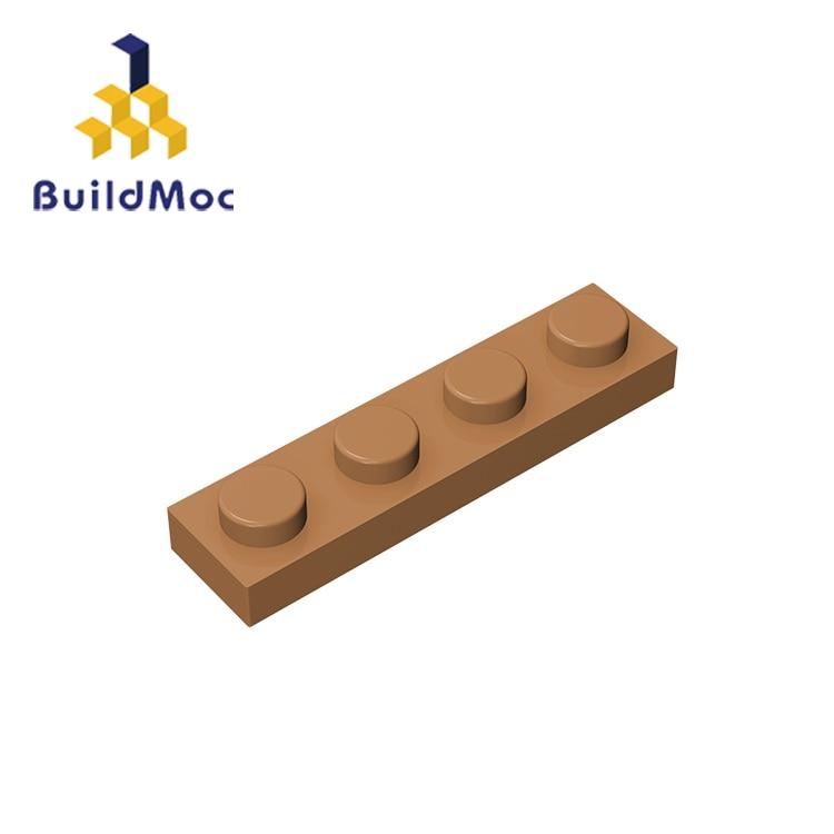 BuildMOC, совместимая пластина для сборных элементов 3710, 1x4 для строительных блоков, детали «сделай сам», развивающие кирпичи, развивающие техни...