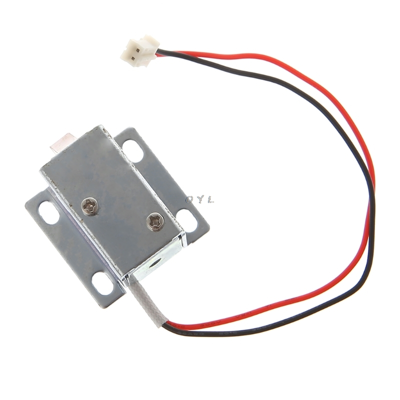 Image 4 - Electronic Lock Catch Door Gate 12V 0.4A Release Assembly Solenoid Access Control-in Electric Lock from Security & Protection