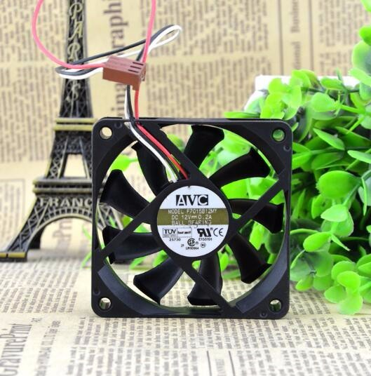 Wholesale AVC F7015B12MY DC 12V 0.2A 70*70*15mm 3-wires double ball bearing cooling fan